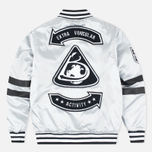 Мужская куртка бомбер Billionaire Boys Club x Majestic Eva Stadium Silver/Black фото- 8