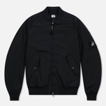 Мужская куртка бомбер C.P. Company Nycra MA-1 Over-Dyed Polar Fleece Lining Black фото- 0