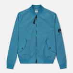 Мужская куртка бомбер C.P. Company Nycra Turquoise фото- 0