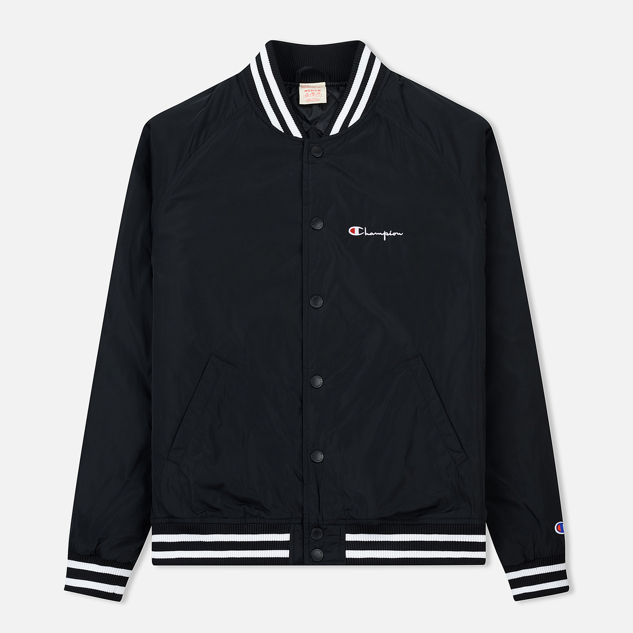 Мужская куртка бомбер Champion Reverse Weave Satin Logo Backside Black