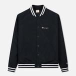 Мужская куртка бомбер Champion Reverse Weave Satin Logo Backside Black фото- 0