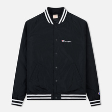 Мужская куртка бомбер Champion Reverse Weave Satin Logo Backside Black фото- 0