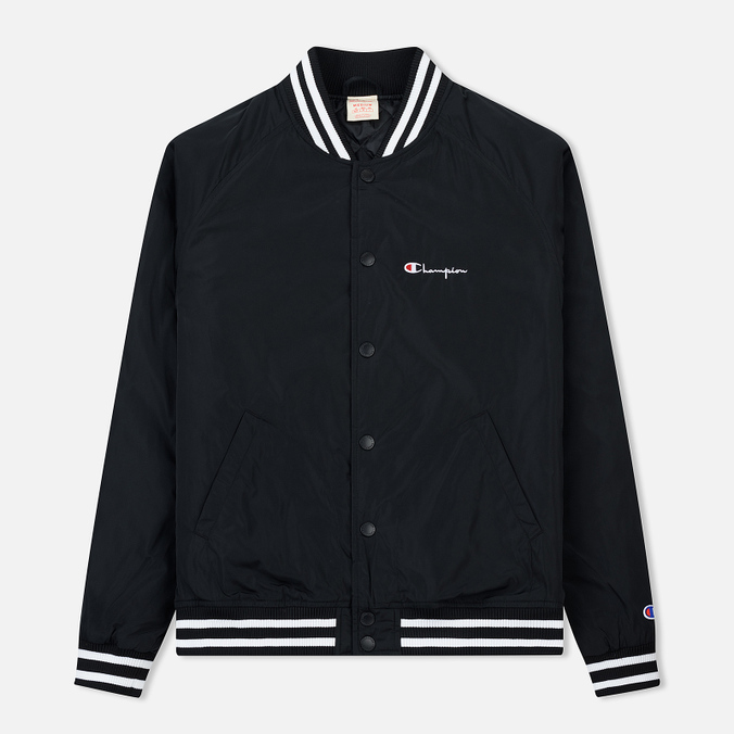 Мужская куртка бомбер Champion Reverse Weave Satin Logo Backside Black