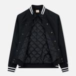 Мужская куртка бомбер Champion Reverse Weave Satin Logo Backside Black фото- 1