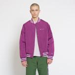 Мужская куртка бомбер Champion Reverse Weave Satin Logo Backside Purple фото- 7