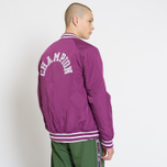 Мужская куртка бомбер Champion Reverse Weave Satin Logo Backside Navy фото- 8