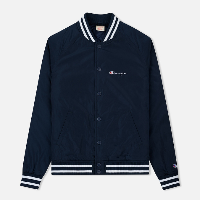 Мужская куртка бомбер Champion Reverse Weave Satin Logo Backside Navy