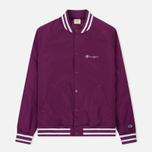 Мужская куртка бомбер Champion Reverse Weave Satin Logo Backside Purple фото- 0