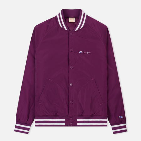 Мужская куртка бомбер Champion Reverse Weave Satin Logo Backside Purple