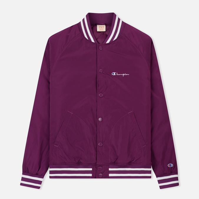 Мужская куртка бомбер Champion Reverse Weave Satin Logo Backside Purple