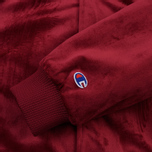 Мужская куртка бомбер Champion Reverse Weave Velvet Logo Backside Burgundy фото- 2