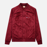 Мужская куртка бомбер Champion Reverse Weave Velvet Logo Backside Burgundy фото- 0