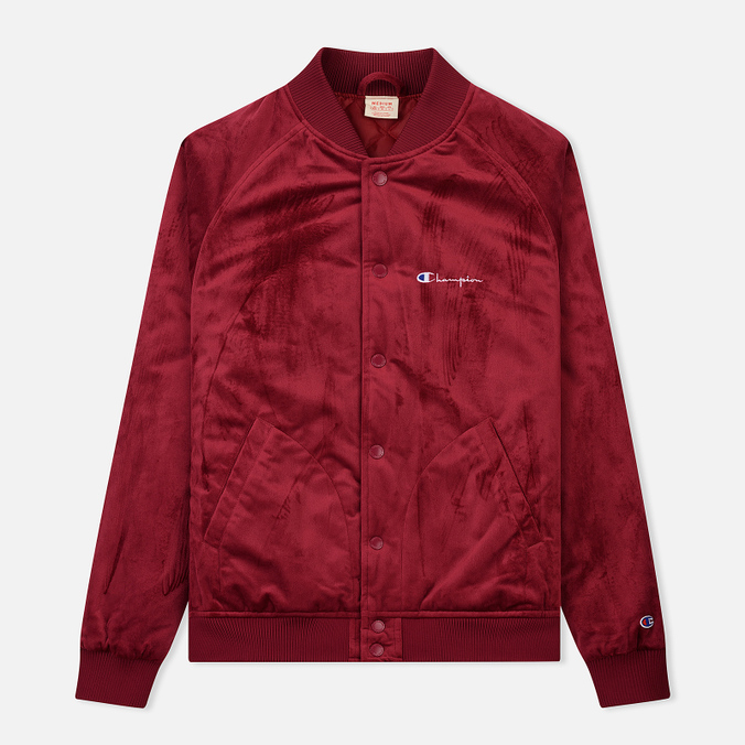 Мужская куртка бомбер Champion Reverse Weave Velvet Logo Backside Burgundy