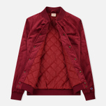 Мужская куртка бомбер Champion Reverse Weave Velvet Logo Backside Burgundy фото- 1