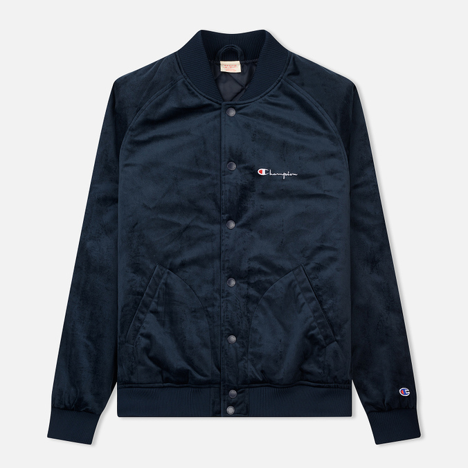 Мужская куртка бомбер Champion Reverse Weave Velvet Logo Backside Navy