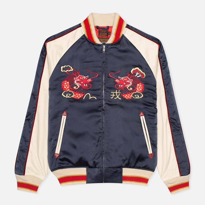 Мужская куртка бомбер Evisu Dragon Souvenir Navy