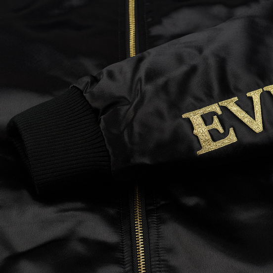 Мужская куртка бомбер Evisu Embroidered Hannya Heraldry MA-1 Black