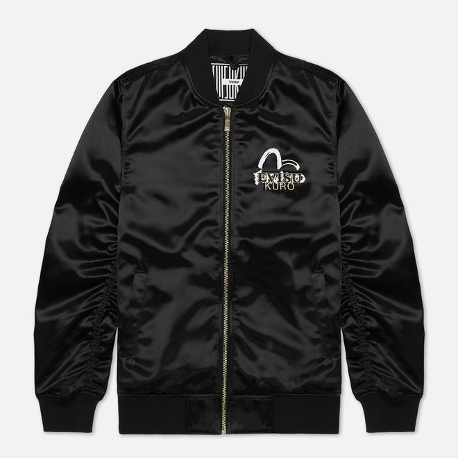 Мужская куртка бомбер Evisu Evisukuro Fine Rocks Evisu MA-1 Black