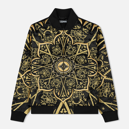 Мужская куртка бомбер Evisu Evisukuro Mandala Gold Embroidered Black