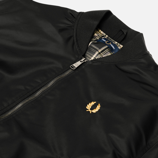 Мужская куртка бомбер Fred Perry Quilted Black