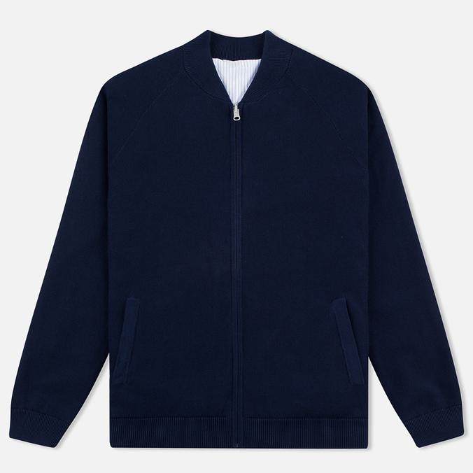 Мужская куртка бомбер Gant Rugger Knitted Sweat Harbor Navy