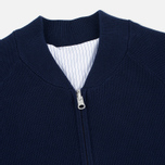 Мужская куртка бомбер Gant Rugger Knitted Sweat Harbor Navy фото- 2