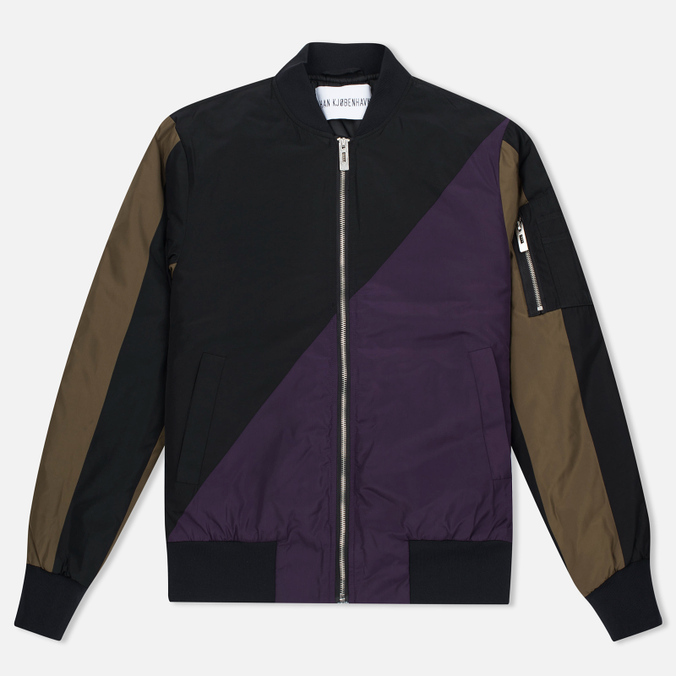 Мужская куртка бомбер Han Kjobenhavn Sub Black/Army Green/Purple/Grey
