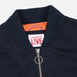 Мужская куртка бомбер Lacoste Live Multipocket Navy фото- 2