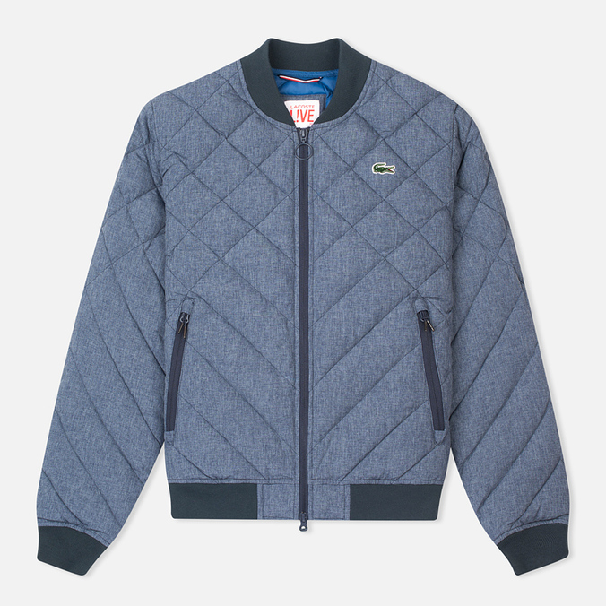 Мужская куртка бомбер Lacoste Live Quilted Down & Feathers Midnight Blue Chine