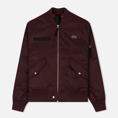 Мужская куртка бомбер Lacoste Live Water-Resistant Quilted Twill Pruneau