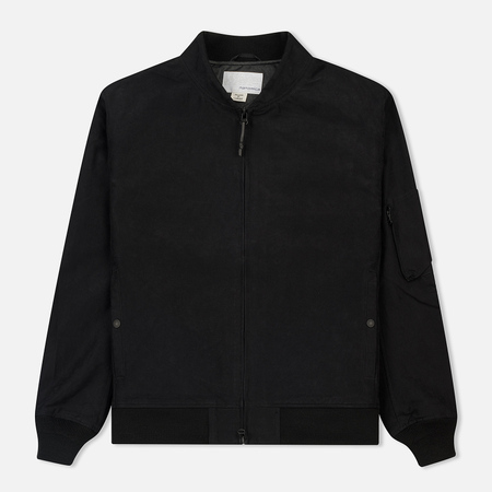 Мужская куртка бомбер Nanamica Mole Skin NA-1 Black