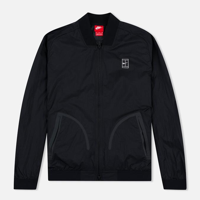 Мужская куртка бомбер Nike Court MA-1 Black/White