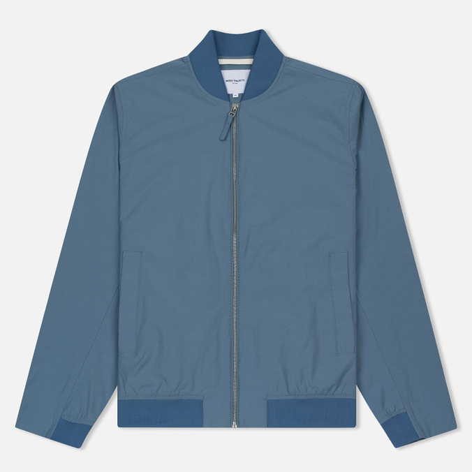 Мужская куртка бомбер Norse Projects Ryan Crisp Cotton Marginal Blue