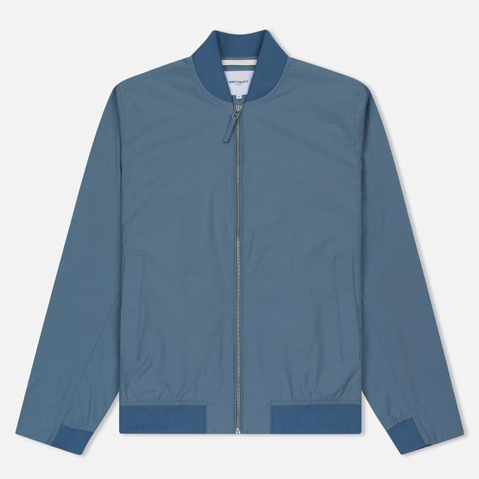 Мужская куртка бомбер Norse Projects Ryan Crisp Cotton Marginal Blue