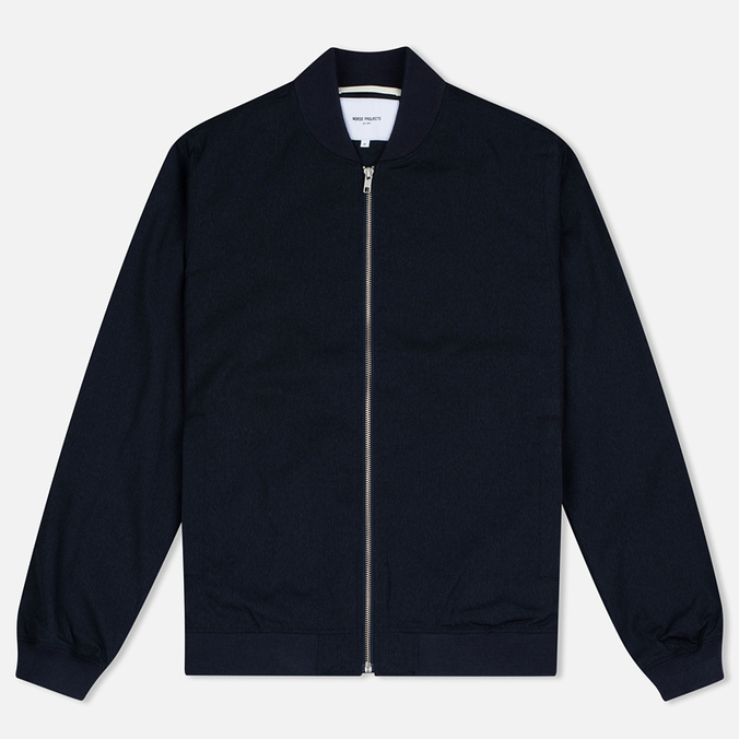 Norse Projects Ryan Melange Ripstop Men's Bomber Indigo