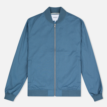 Norse Projects Ryan Melange Ripstop Men's Bomber Light Indigo