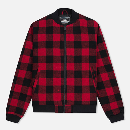 Мужская куртка бомбер Penfield Glendale Buffalo Plaid Red/Black