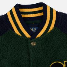Мужская куртка бомбер Polo Ralph Lauren Fleece Letterman College Green/Cruise Navy фото- 1