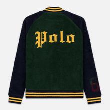 Мужская куртка бомбер Polo Ralph Lauren Fleece Letterman College Green/Cruise Navy фото- 5