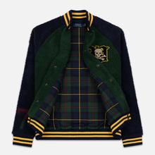 Мужская куртка бомбер Polo Ralph Lauren Fleece Letterman College Green/Cruise Navy фото- 6