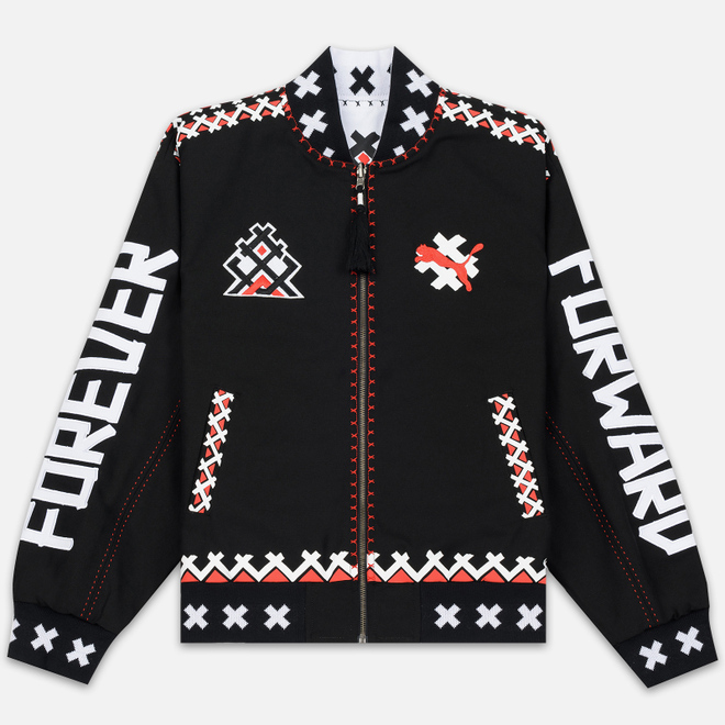 Мужская куртка бомбер Puma x JAHNKOY Reversible Black/White