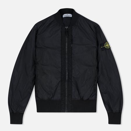 Stone Island Garment Dyed Crinkle Reps NY Men's Bomber Black