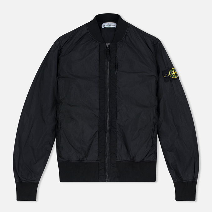 Мужская куртка бомбер Stone Island Garment Dyed Crinkle Reps NY Black