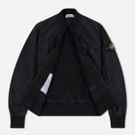 Мужская куртка бомбер Stone Island Garment Dyed Crinkle Reps NY Black фото- 2