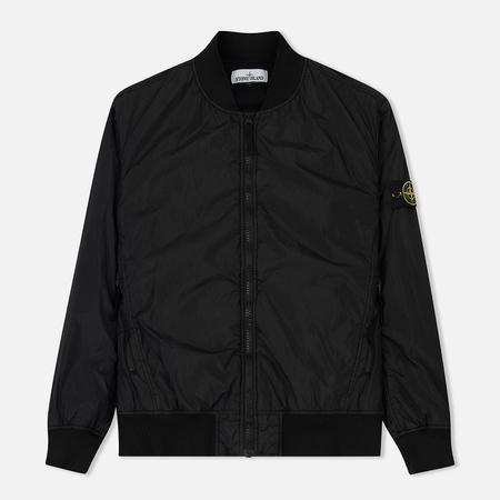 Мужская куртка бомбер Stone Island Lightweight Garment Dyed Crinkle Reps NY Black