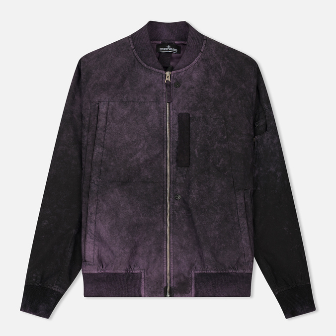 Мужская куртка бомбер Stone Island Shadow Project Asym TPX-Polyester Black Violet