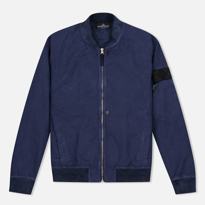 Мужская куртка бомбер Stone Island Shadow Project Bomber David TC Ultramarine Blue