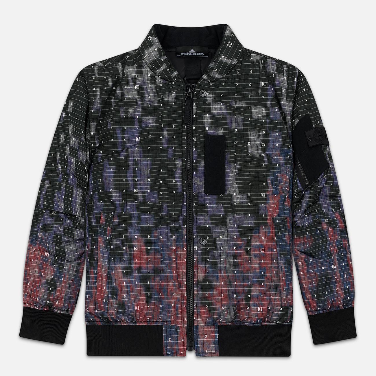 Мужская куртка бомбер Stone Island Shadow Project DPM Chine Wool Black