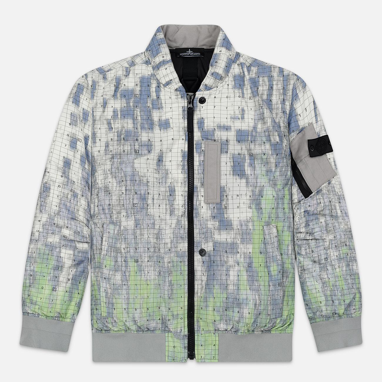 Мужская куртка бомбер Stone Island Shadow Project DPM Chine Wool Pistachio