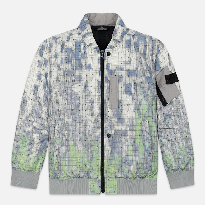 Мужская куртка бомбер Stone Island Shadow Project DPM Chine Wool Pistachio